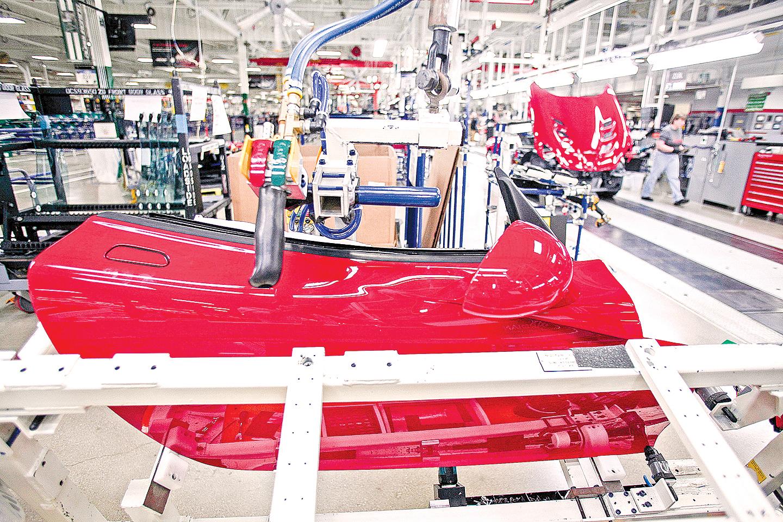 底特律道奇Dodge Viper 車廠。(Getty Images)