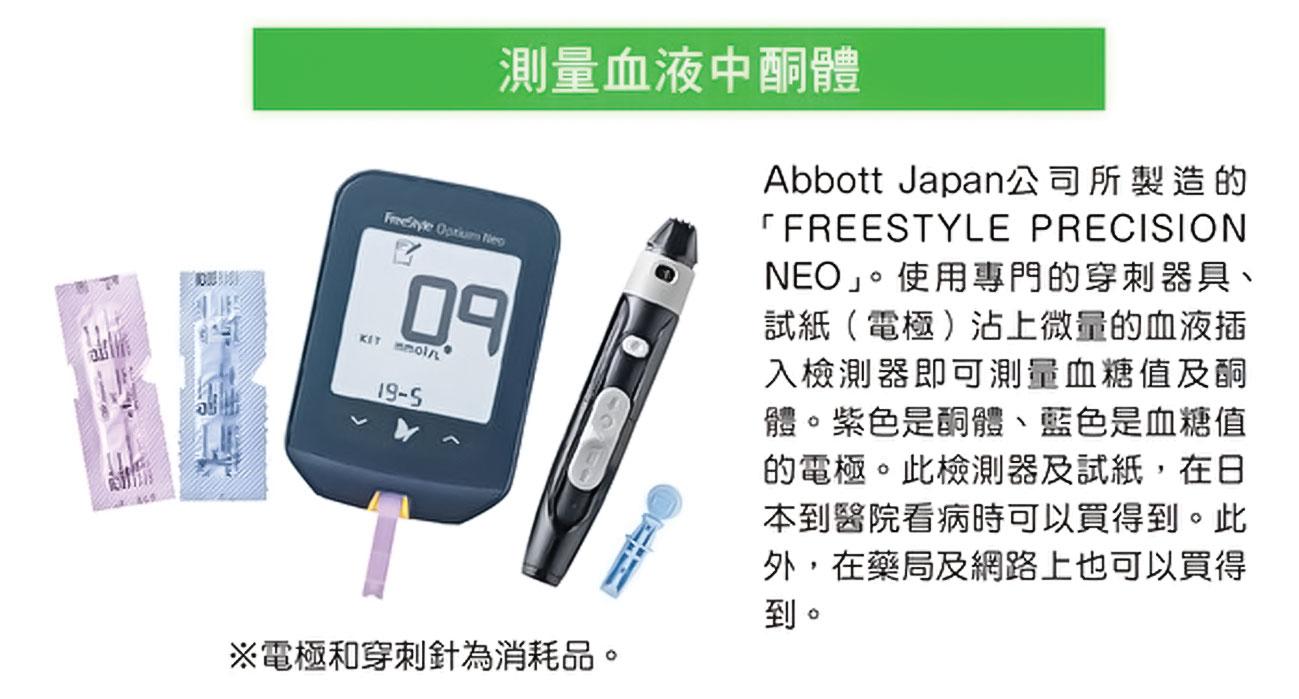 酮體可以自己用檢測器測量。(大樹林)