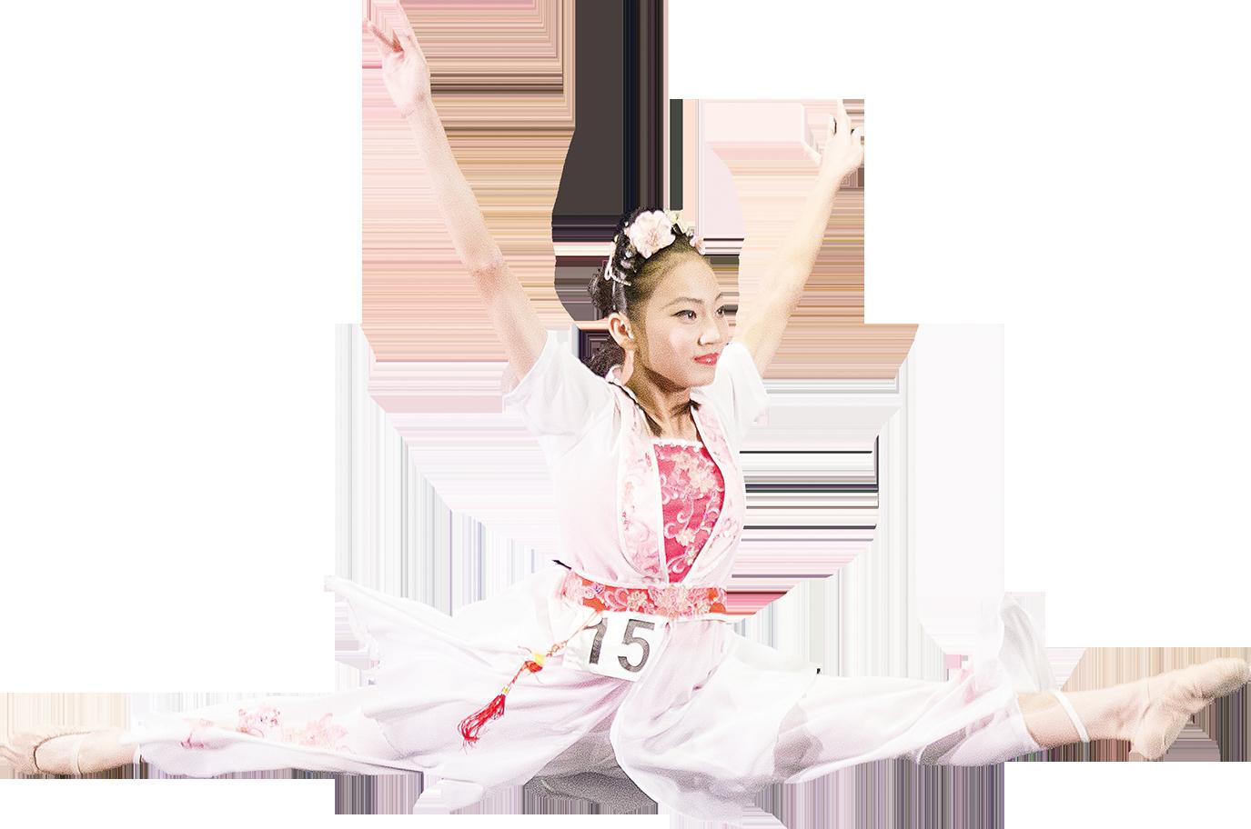 少年女子組入圍選手沈毓憪表演《百花沁》。(白川/大紀元)