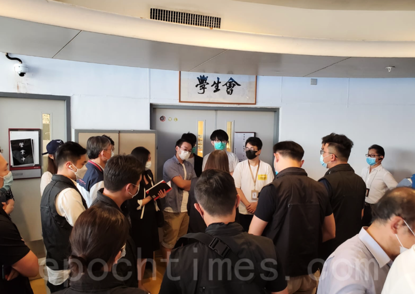 警搜查香港理工大學 調查去年警員中箭案