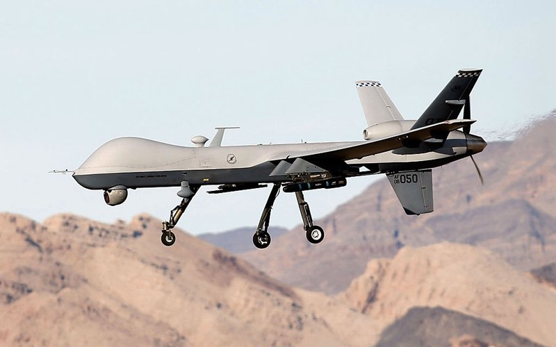 美國空軍MQ-9「收割者」無人機曾多次執行「斬首」任務。(Isaac Brekken/Getty Images)