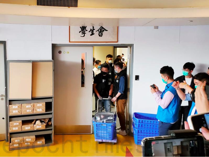 距「理大保衛戰」近八個月 警方突高調搜查學生會室