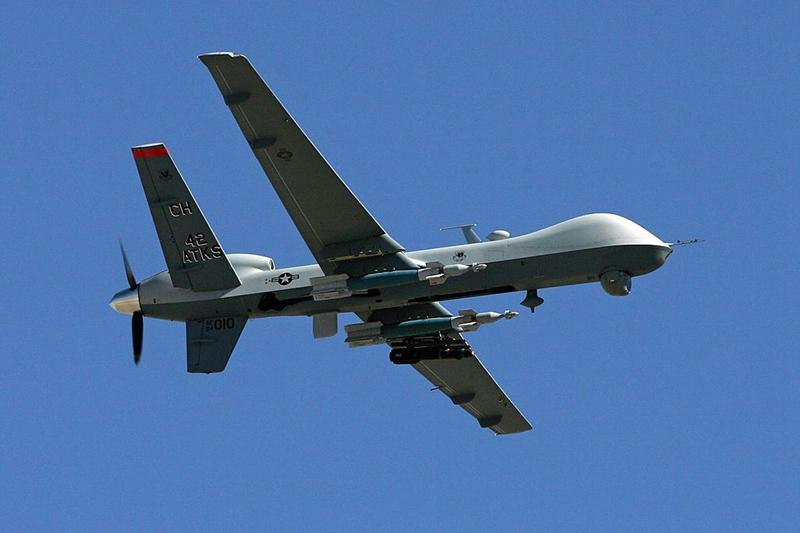 美中雙方劍拔弩張,網傳美軍無人機日前逼近中共家門,如入無人之境,中共的雷達全無反應。圖為MQ-9無人機資料圖。(Ethan Miller/Getty Images)
