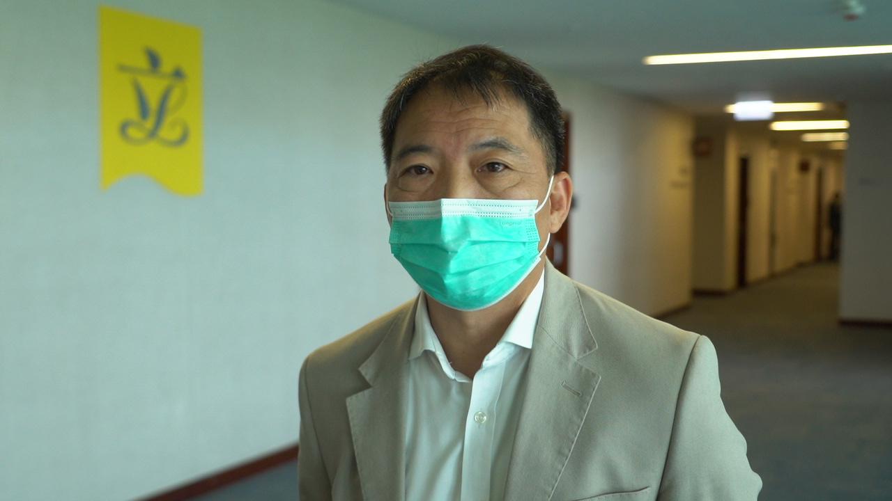 民主黨主席、立法會議員胡志偉。(霄龍/大紀元)
