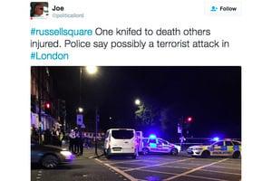 倫敦襲擊事件 男子持刀行兇1死6傷