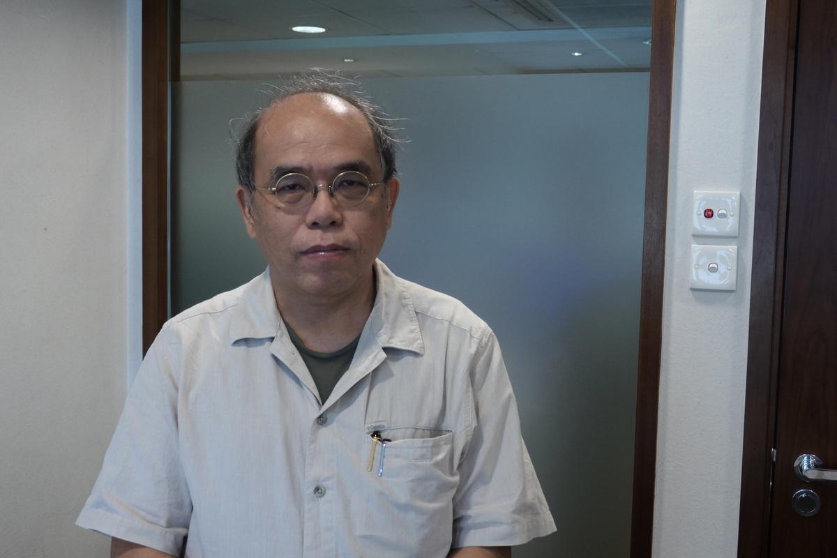 民意研究所副行政總裁鍾劍華(陳弘銘/大紀元)