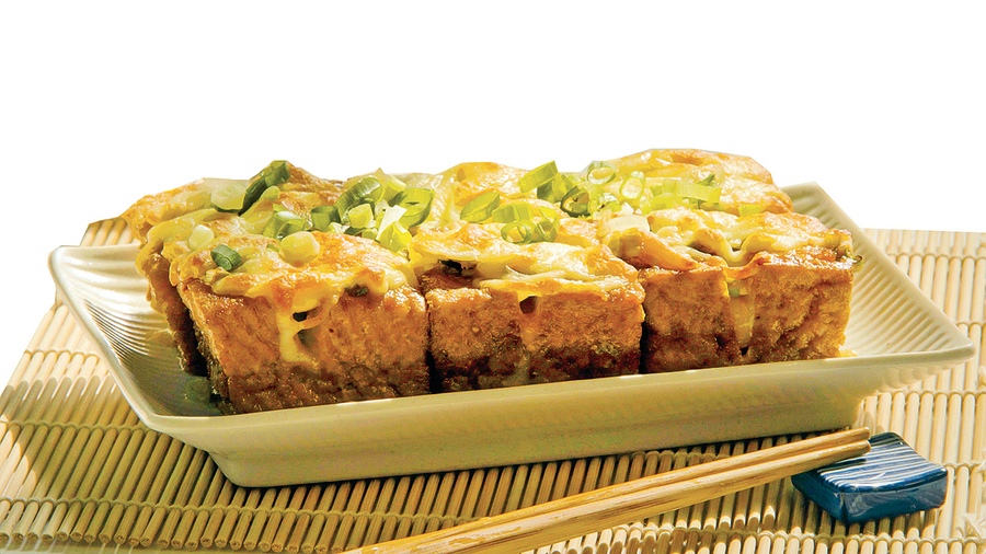 蔥香味噌芝士炙烤豆腐