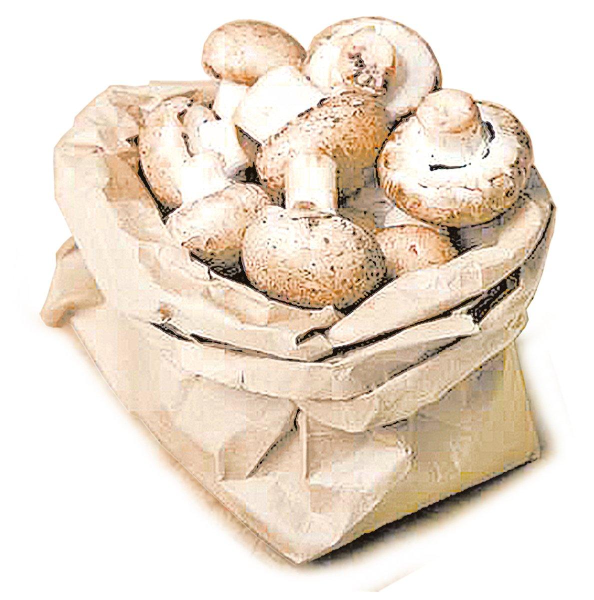 蘑菇買回家後不要清洗,請用紙袋把蘑菇包起來後存放在雪櫃的大隔間中。