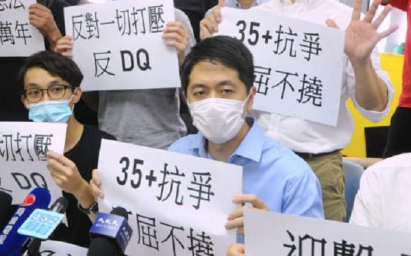 香港島參選人,民主黨許智峯。(宋碧龍 / 大紀元)