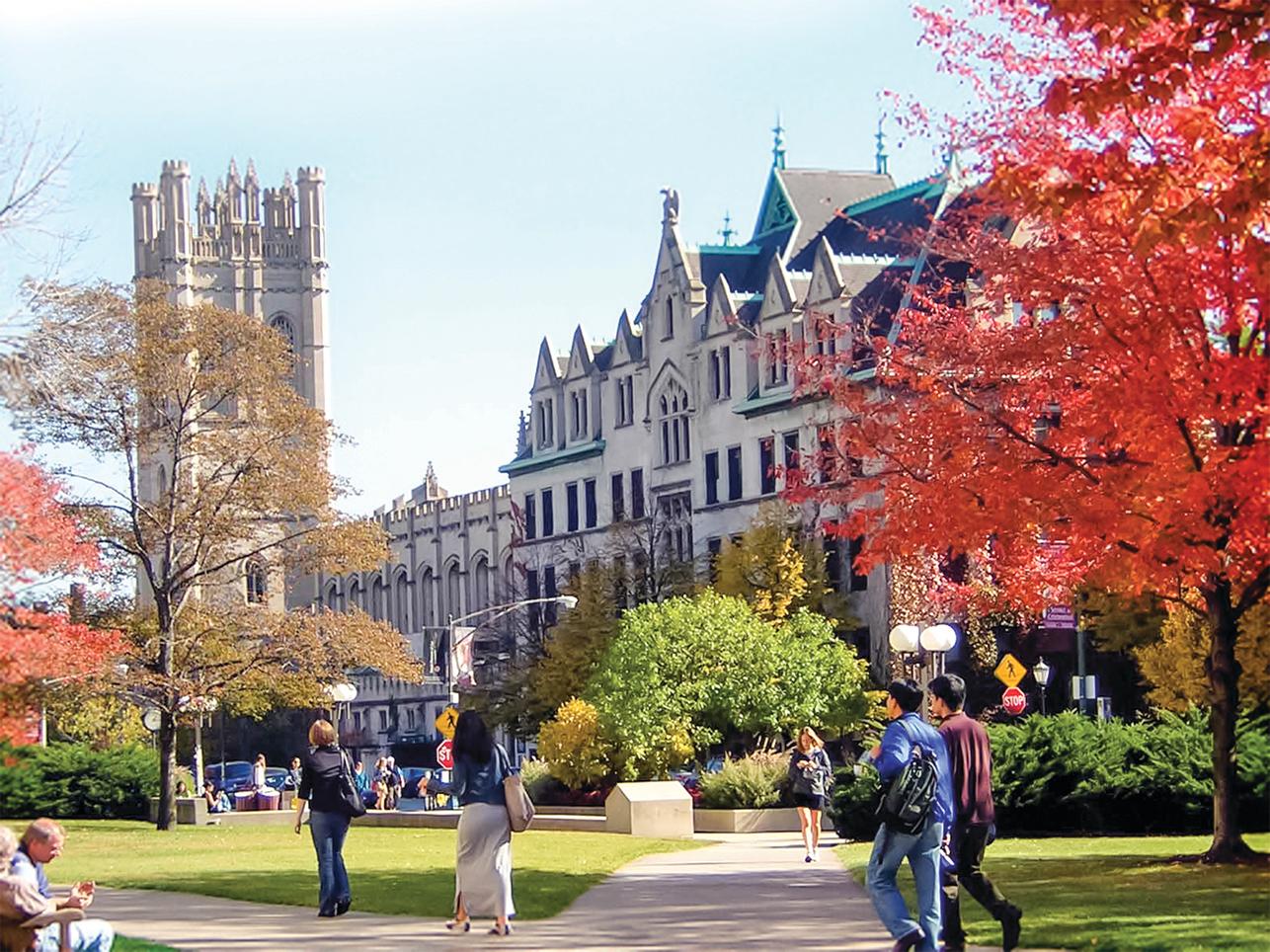 芝加哥大學。 (公有領域)