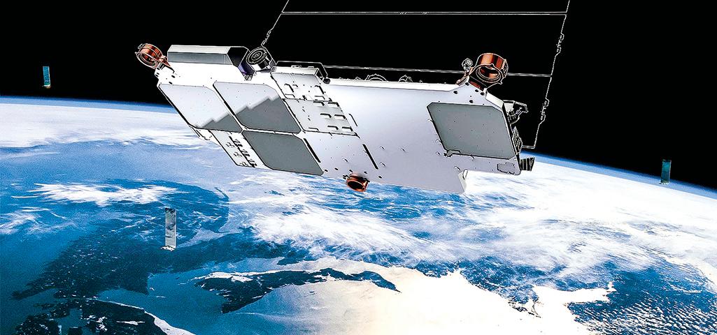 p星鏈衛星呈扁平狀,主要是為了佈置4塊相控陣天線。(SpaceX)