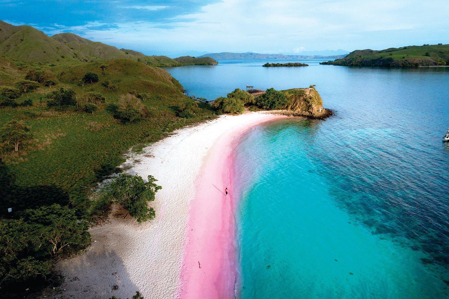 科莫多島的粉紅沙灘浪漫唯美。