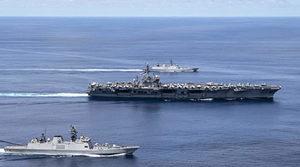 美國航母與印度聯合軍演 印度重申要求中共撤軍