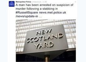 倫敦揮刀斬人案 19歲男子涉嫌謀殺被捕