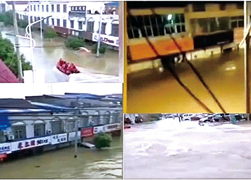 安徽固鎮鎮 萬人被洪水圍困