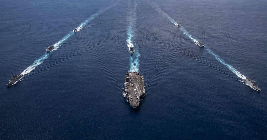 美航母20天四度演習 美日澳南海聯合軍演