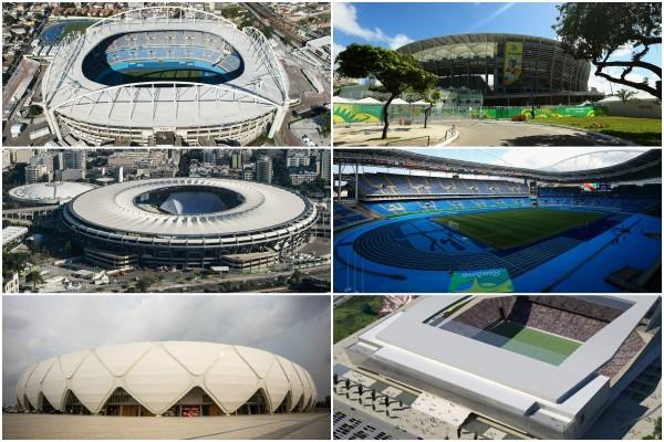 2016年里約熱內盧奧運會,將於8月5日開幕,各項競技將在數座知名的館場舉行。(大紀元合成圖)