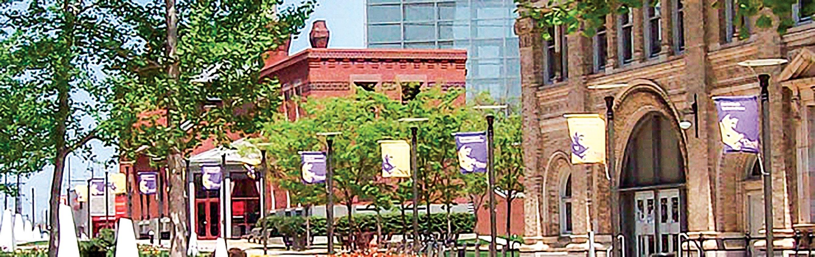爵碩大學是江綿恆鍍金之地,與中國的多所院校有合作關係。圖為爵碩大學校舍。(爵碩大學網站圖片)