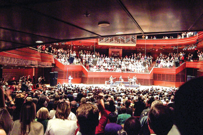 金梅爾表演藝術中心的Verizon Hall是費城交響樂團的演出基地。圖為Verizon Hall。( 公有領域)