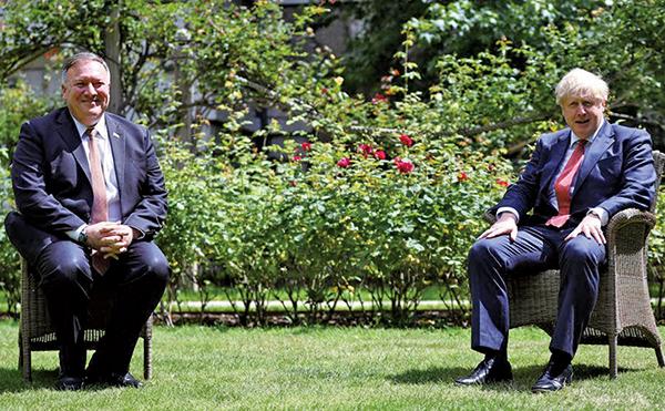 美國務卿蓬佩奧訪英 美英聯手出拳重擊中共
