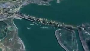 三峽潰壩類比。(影片截圖)