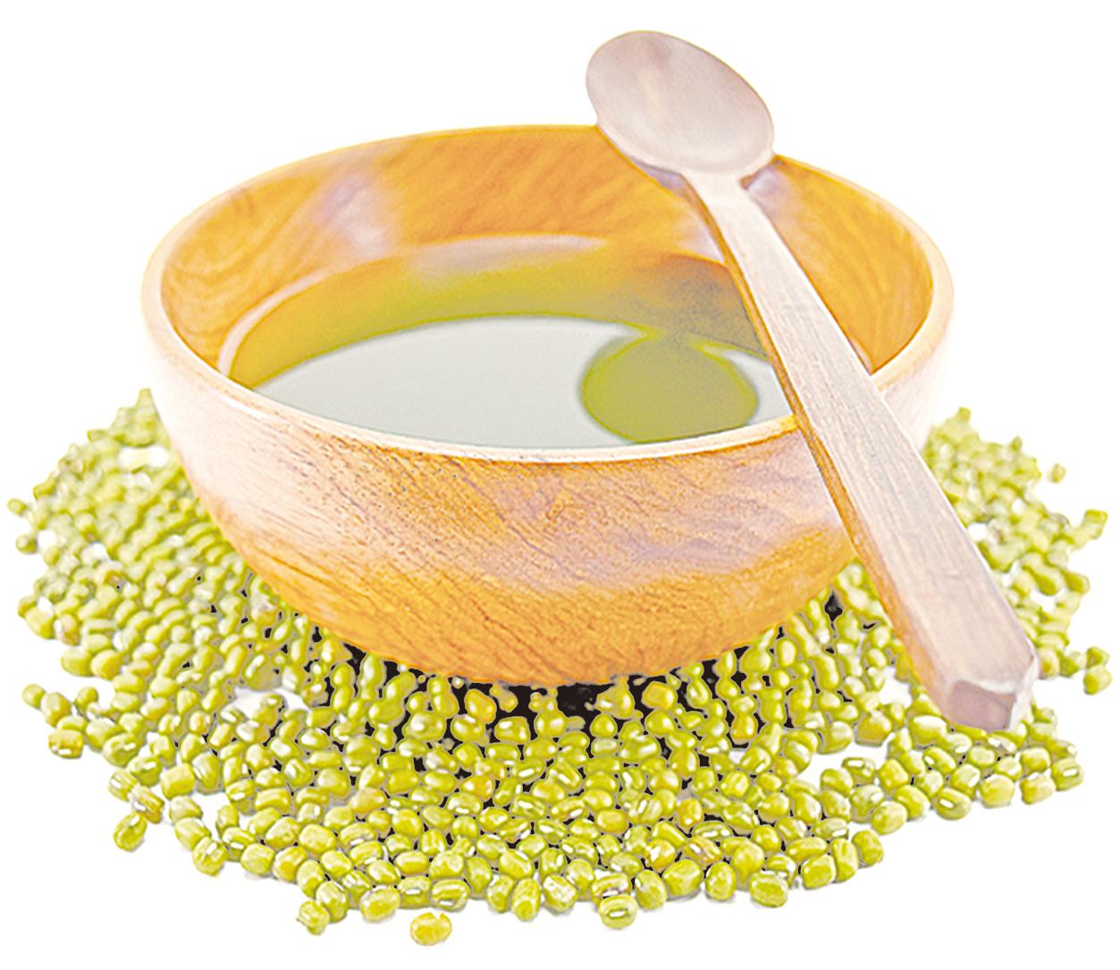綠豆湯汁可用來代替茶,冷熱皆可飲用。