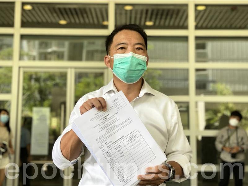 報名參選2020立法會 胡志偉:「香港人反抗」是這次選舉最重要主題