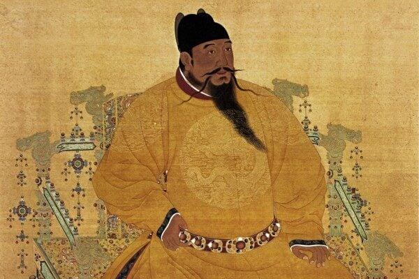 明成祖朱棣著袞龍袍像。(公有領域)