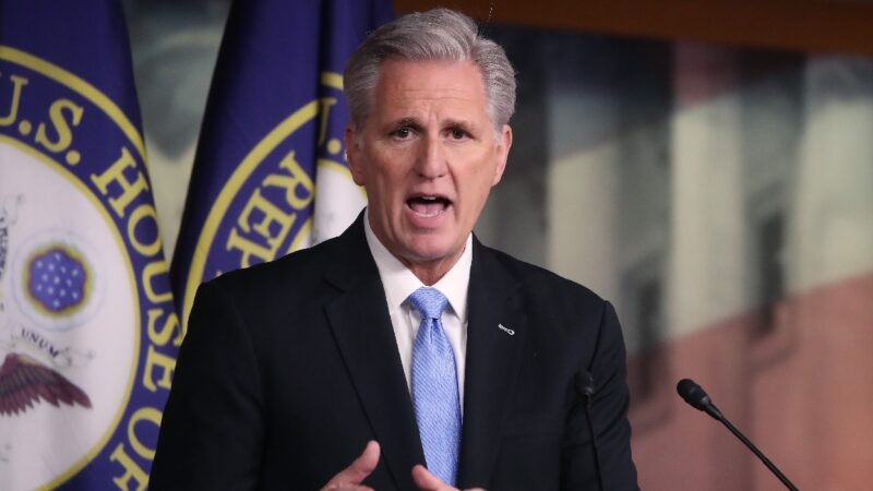 美國眾議院少數黨領袖麥卡錫(Kevin McCarthy)。(Mark Wilson/Getty Images)