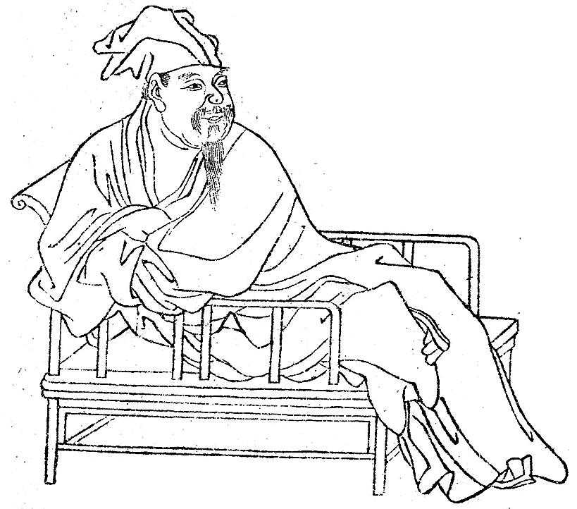 圖為清代《晩笑堂竹莊畫傳》中歐陽修像(公有領域)