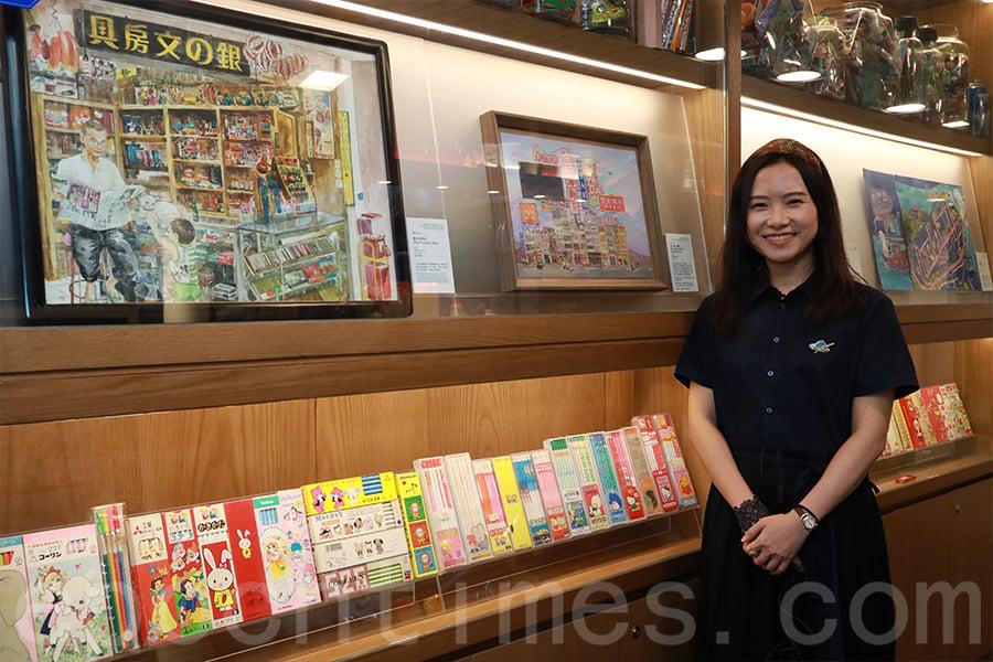 慧惠近40幅原畫在阿銀冰室展出。(陳仲明/大紀元)