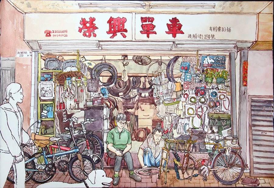 慧惠作品「榮興單車」。(受訪者提供)