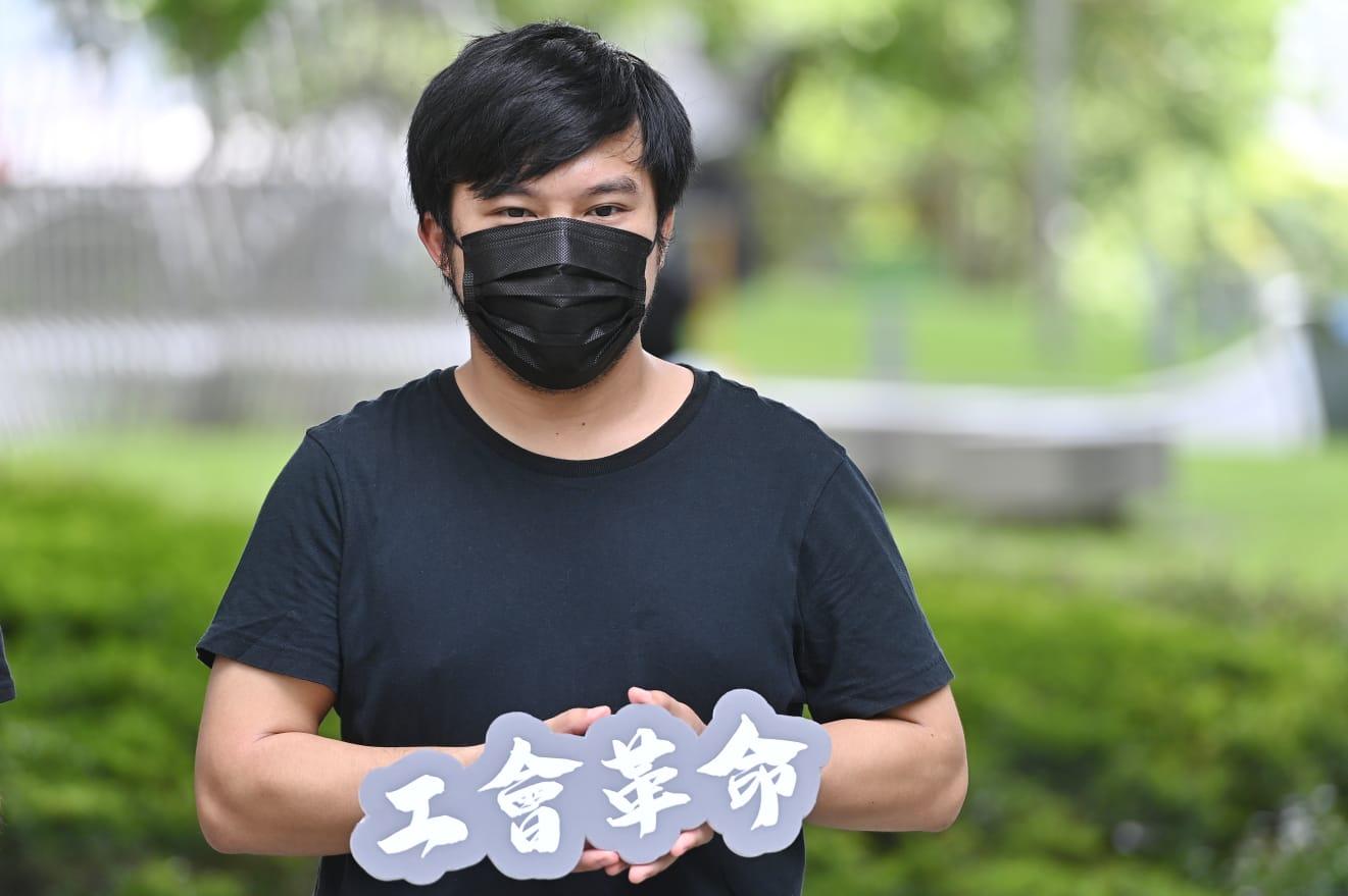 香港資訊科技界工會主席鄧卓文。(宋碧龍 / 大紀元)