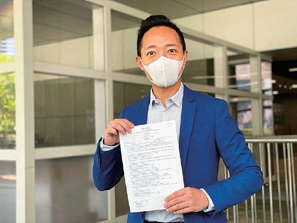 「又飛啦」創辦人周錦基報名參選旅遊界別。(肖龍/大紀元)