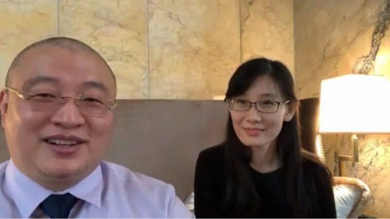 7月28日,閻麗夢在接受路德專訪時,呼籲協助中國民眾一起推翻政權。(影片截圖)