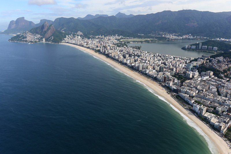 里約熱內盧的依巴內瑪海灘。(Christophe SIMON/AFP)