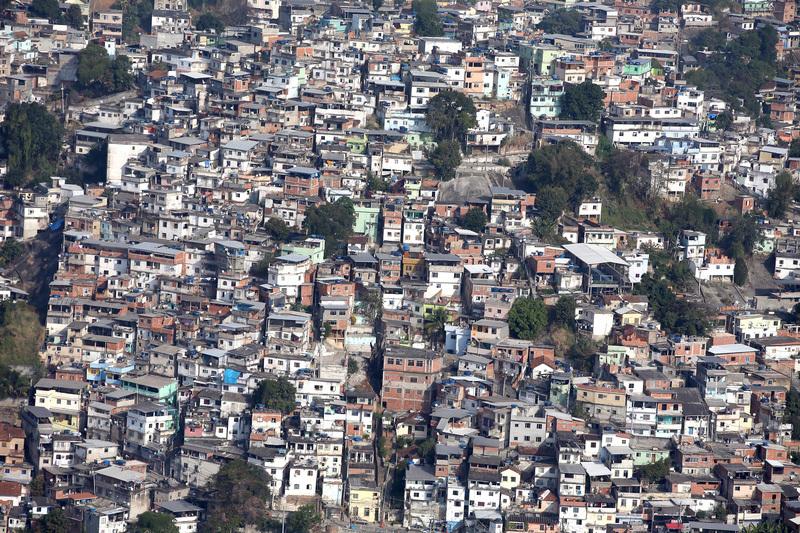 鳥瞰里約熱內盧貧民窟社區。(Matthew Stockman/Getty Images)