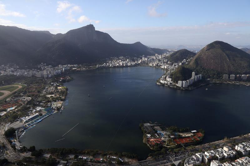 里約熱內盧的羅德里戈・弗雷塔斯潟湖是奧運賽艇場地。(Patrick Smith/Getty Images)