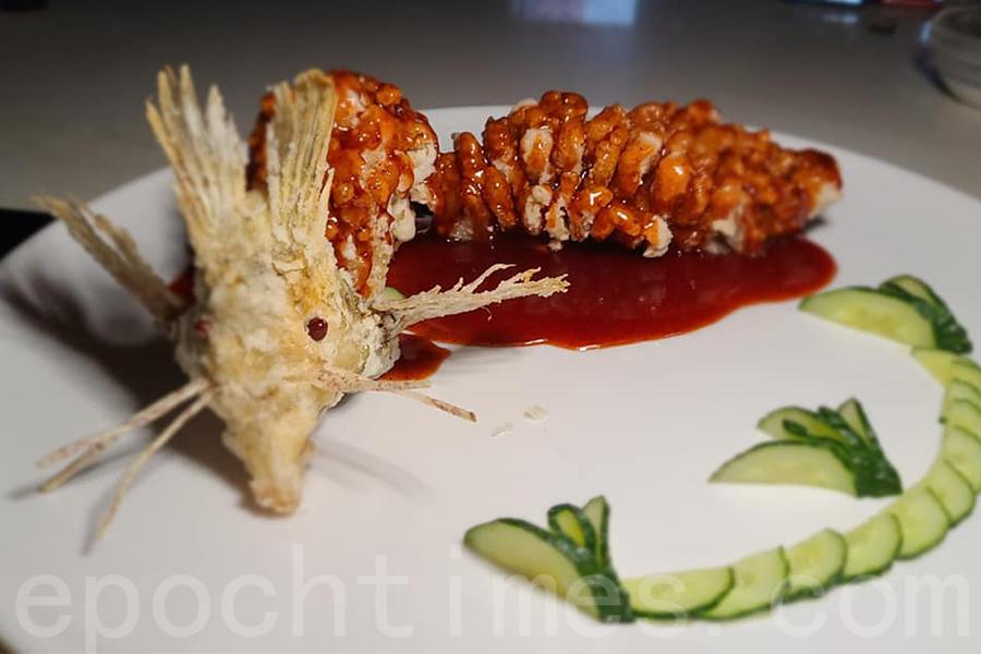 沈Sir製作的松鼠魚。(受訪者提供)