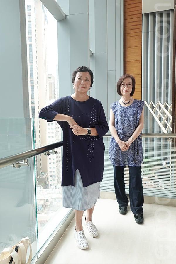 何廖綺玲(左)與嚴惠蕙(右)希望在未來的課程中引發學生們對傳統工藝的興趣,激發學生的創意。(曾蓮/大紀元)