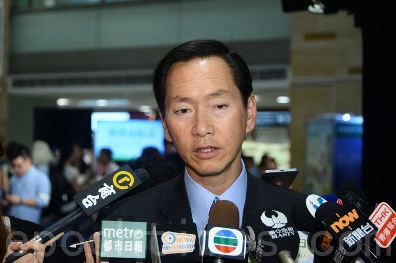 7月30日,美國共和黨全國委員會成員Solomon Yue(俞懷松)發推文稱,滙豐銀行已關閉了陳智思的銀行帳戶,並說這只是開始。行政會議召集人陳智思。(大紀元資料圖片)