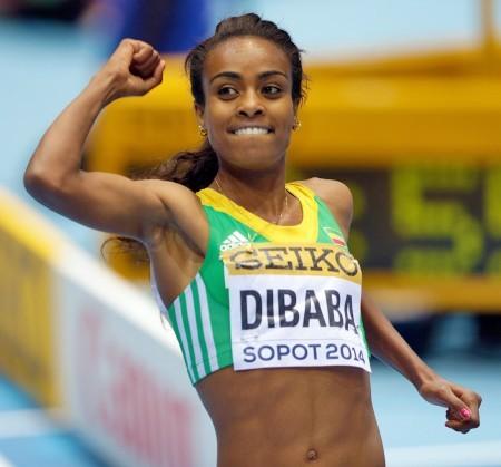 25歲狄芭巴是當今世界女子1500米的冠軍與紀錄保持者。(維基百科公有領域)