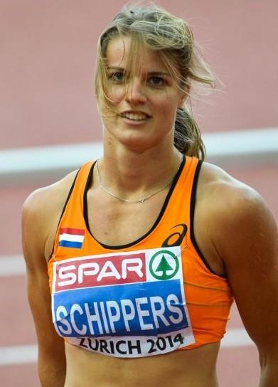 荷蘭女飛人舒帕絲同時擅長女子七項全能和短跑。(維基百科公有領域)