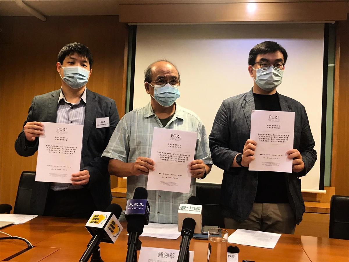 香港民意研究所7月31日公佈最新調查顯示,55%港人支持立法會選舉應如期舉行。(張旭顏/大紀元)