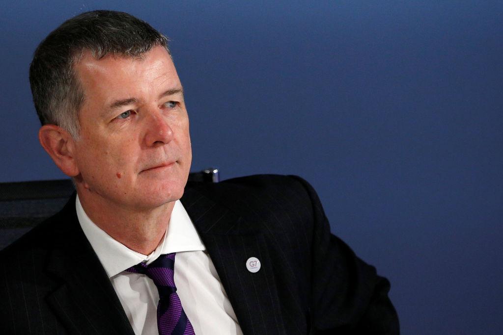 即將上任的英國軍情六處(MI6)新負責人摩爾(Richard Moore),將更加專注來自中俄方面的情報工作。( STEPHANE MAHE/AFP via Getty Images)