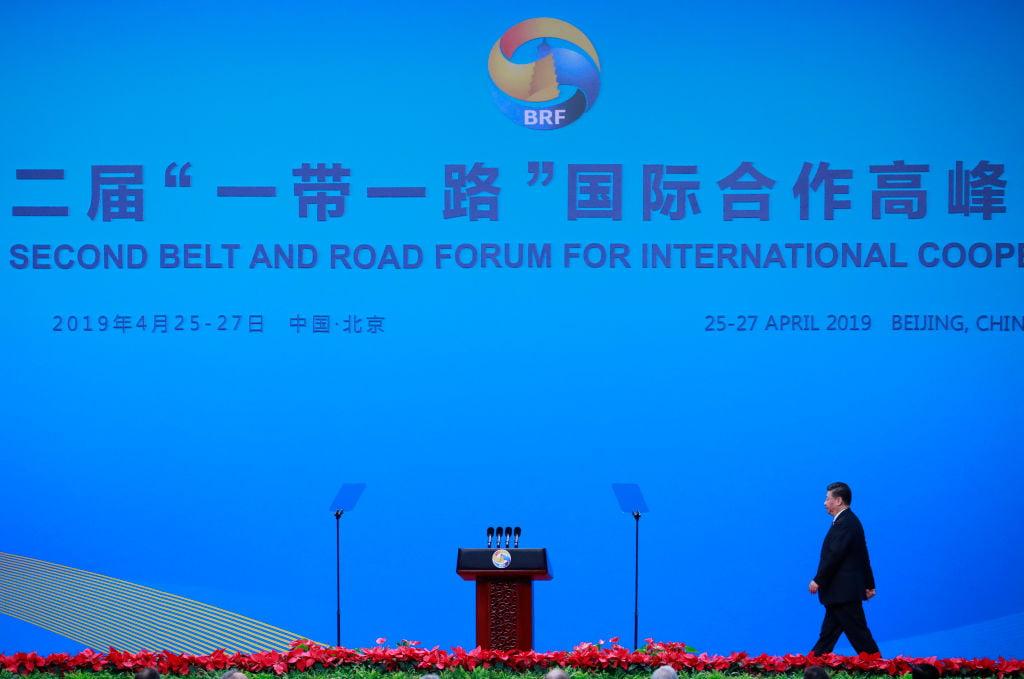 2019年4月25日,習近平出席第二屆「一帶一路」國際合作高峰論壇大會。(How Hwee Young-Pool/Getty Images)