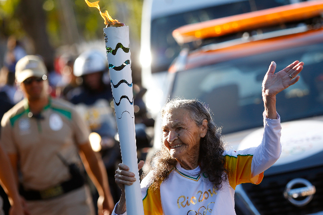 利瑪認為,自己長壽的原因在於開懷樂觀。(Rio2016/Marcos de Paula)