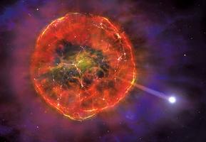新型超新星爆炸後 飛掠銀河系