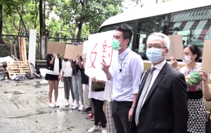 大陸檢測先遣隊抵大埔「華大基因香港」  往太平工業園遇抗議  11人被捕