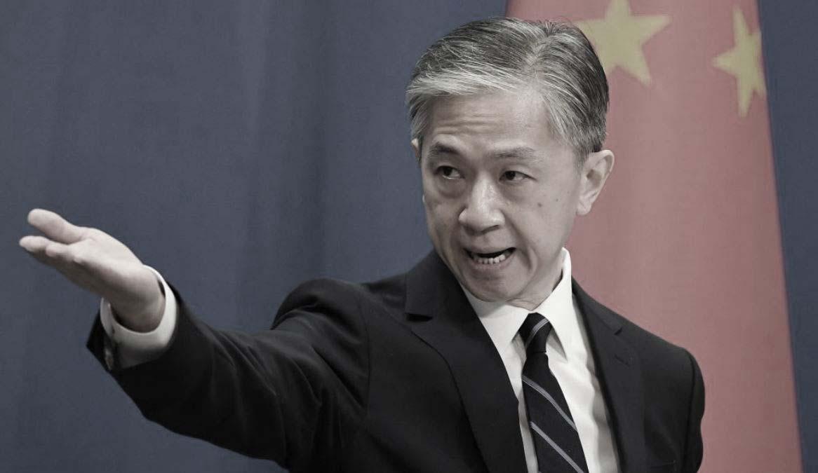圖為中共外交部發言人汪文斌。(GREG BAKER/AFP via Getty Images)